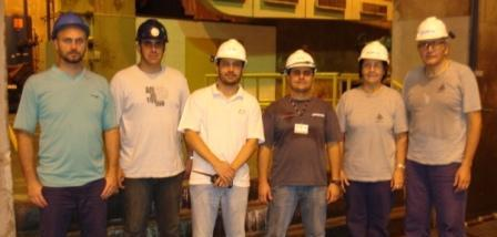 From left: Allan Machado and Renato Farias of PASA, Alcides Souza and Ricardo Avante of CESP, Laura Cabral and Branko Bajic of Korto